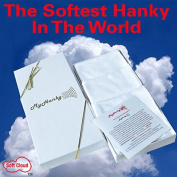 White 3 Pack My Hanky. The Softest Cotton Handkerchief In The World. Best gift under 20 dollar for dad, grandfather, husband, brother, uncle.