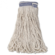 Rubbermaid Commercial RCP E139 Universal Headband Mop Head, Cotton, 950ml, 2.5cm Blue Band, White