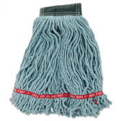 Rubbermaid Commercial RCP A252 GRE RCPA252GRE Web Foot Wet Mop Head, Shrink Less, Cotton/Synthetic, Medium