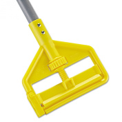 Rubbermaid Commercial RCP H146 Invader Fibreglass Side-Gate Wet-Mop Handle, 2.5cm Diameter x 18m, Grey/Yellow