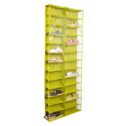 Tune Up Clear PVC Over-the-door 26-pocket Shoe Organiser, Washable Oxford Shoe Rack, Hanging Shoe Storage Bag