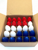 C-9 Red, White, & Blue 4th of July Lights C9 Bulbs Steady - 25 C9 Bulbs