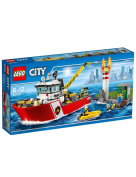 Lego City Fire Boat with Lighthouse