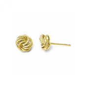 Leslies 10K Yellow Gold Polished and Textured Post Earrings