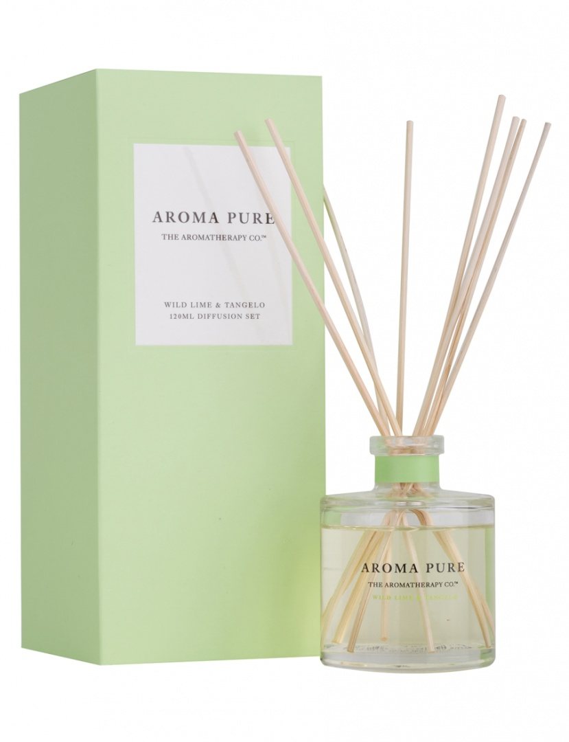 The Aromatherapy Co  Aroma Pure Wild Lime & Tangelo Diffusion Set, 120ml