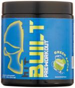 HIT BUILT Pre-Workout Powder, Creatine-Free Insane Energy Formulation, Green Apple, 30 Servings