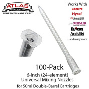 Large Mixing Nozzles-Tips for 50ml Cartridges (15cm 24-element Static Mixers)