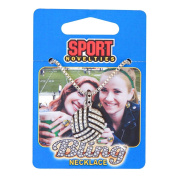 Sports Novelties Volleyball Bling Necklace