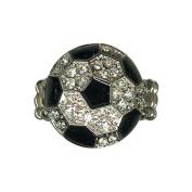 Sports Novelties Soccer Ball Bling Stretch Ring