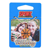 Sports Novelties Basketball Bling Necklace