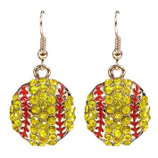 Sports Novelties Softball Bling Earrings