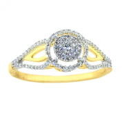Diamond Vintage Engagement Bridal Ring 7.95mm Wide 10K Yellow Gold