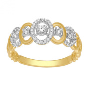 10K Gold Ring Fashion Anniversary Band Diamonds 8mm Wide Approx