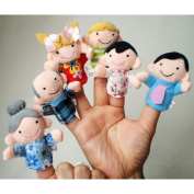 GOTD 6Pcs New Soft Family Member Puppet Baby Finger Plush Toys LOVE Warm Gift