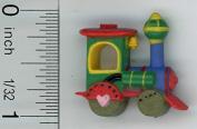 Dollhouse Miniature Children's Locomotive Toy by Carradus Miniatures