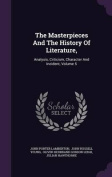 The Masterpieces and the History of Literature,