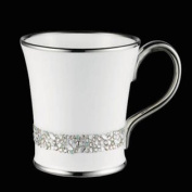 Giovanni Silver Bone Chain Mug Decorated With. Crystals