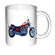 Motorcycle Print Coffee Mug -1996 YAMAHA XV 535 VIRAGO RED
