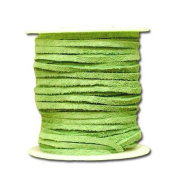 Springfield Leather Company 0.2cm x 15m Soft Suede Fresh Green Leather Lace