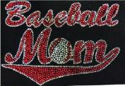 Baseball Mom Rhinestone Iron On Hot Fix Transfer DYI MOTIF