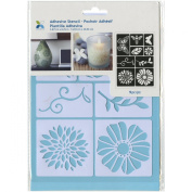Momenta Adhesive Stencil, 15cm by 20cm , Flowers and Bugs
