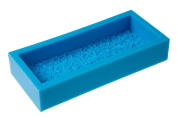 Moldiy Big Rectangular Shape Soap Mould Silicone Handmade Craft Mould with Extensive 3D Roses on One Side
