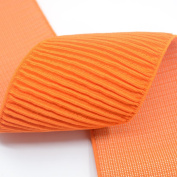 Strapcrafts 7.6cm Wide Orange Ruffle Elastic Bands By 3-yard