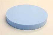 Round Stool Seat Chair Upholstery Foam Pad Cushion. 30cm Diameter By 7.6cm High. White Medium Regular Density.