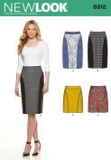 NEW LOOK U06312A Misses' Slim Skirt Sewing Template