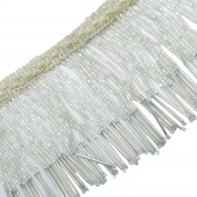 Upholstery Decorative White Beaded Fringe Ribbon Curtain Craft Supplies By The Yard