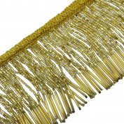 Gold Beaded Fringe Decorative Upholstery Ribbon Curtain Craft Supplies By The Yard