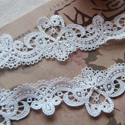 White 5 Yards Grace French Venise Lace Collar Edge Fabric Ribbon Garter Lace Craft Home Party Decorations 5.1cm Wide