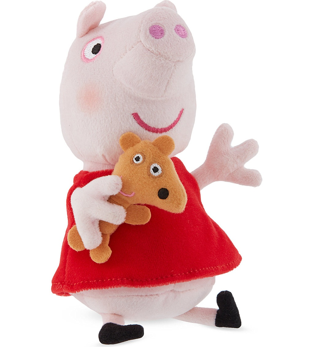 Peppa Pig Supersoft Collectable Plush Toy Peppa With Teddy