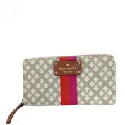 Kate Spade Classic Spade Neda Zip Around Wallet Stucco