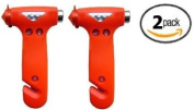 Zone Tech 2x Car Window Seat Safety AUTO Emergency Life-Saving Hammer Belt Cutter Tool