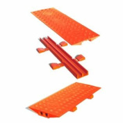 Cross-Link CL2X150-5GP-O Polyurethane Heavy Duty Protector Bridge for Linebacker 5 Channel Cable Protectors, Orange, 90cm Length, 32cm Width, 4.8cm Height