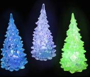 Set of 6 - Mini Light-Up Crystal-Like Christmas Trees