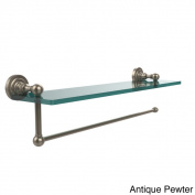 Dottingham Collection Paper Towel Holder with 41cm Glass Shelf
