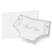 Wilton 1008-1478 Nappy Shape Thank You Cards for Wedding, 20-Pack- Discontinued By Manufacturer