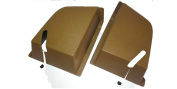 Volvo 240 244 Rear Seat Belt Cover Set Beige New Reproduction 1294746 1294747