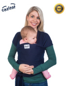 Navy Blue Baby Wrap Carrier Sling by Cozitot® | Soft and Stretchy Baby Carrier | Baby Sling Carrier | Small to Plus Size Baby Sling | Nursing Cover | Best Baby Shower Gift