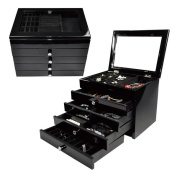 Ikee Design High Gloss View Top Wooden Jewellery Chest