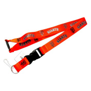 San Francisco Giants Clip Lanyard Keychain Id Holder Orange