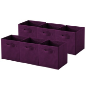 Purple Collapsible Storage Cubes