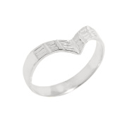 Solid 10k White Gold Fine Band Egyptian Thumb Ring