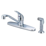Olympia Faucets K-4162 Single Handle Kitchen Faucet, Chrome Finish