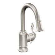 Moen Woodmere S6208SRS Spot Resist Stainless Steel Kitchen Faucet