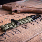 Bomber and Company Paracord Carabiner Survival Keychain Lanyard - Military Grade Type III 7 Strand 250kg Test Cord - Premium Best Quality Survival Keychain Outdoor Gear - Black