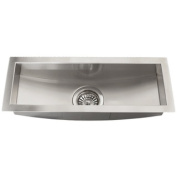 Ticor 60cm Stainless Steel 16-gauge Undermount Trough Kitchen Sink