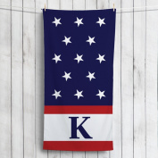Red, White and Blue Personanlized Towel